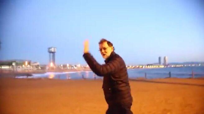 Mariano Rajoy, haciendo ejercicio en Barcelona.