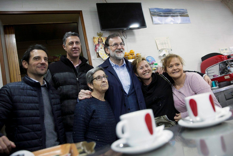 Rajoy y Albiol, de paseo por Castelldefells.