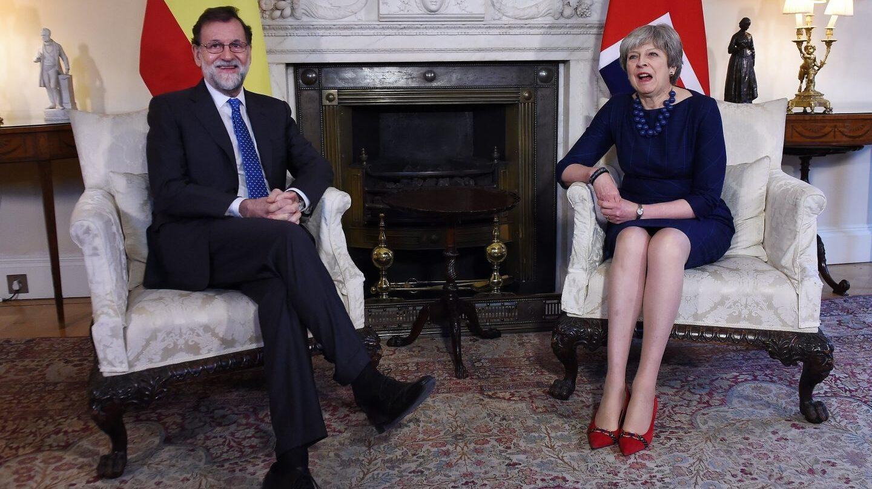 Mariano Rajoy y Theresa May, en Downing Street.