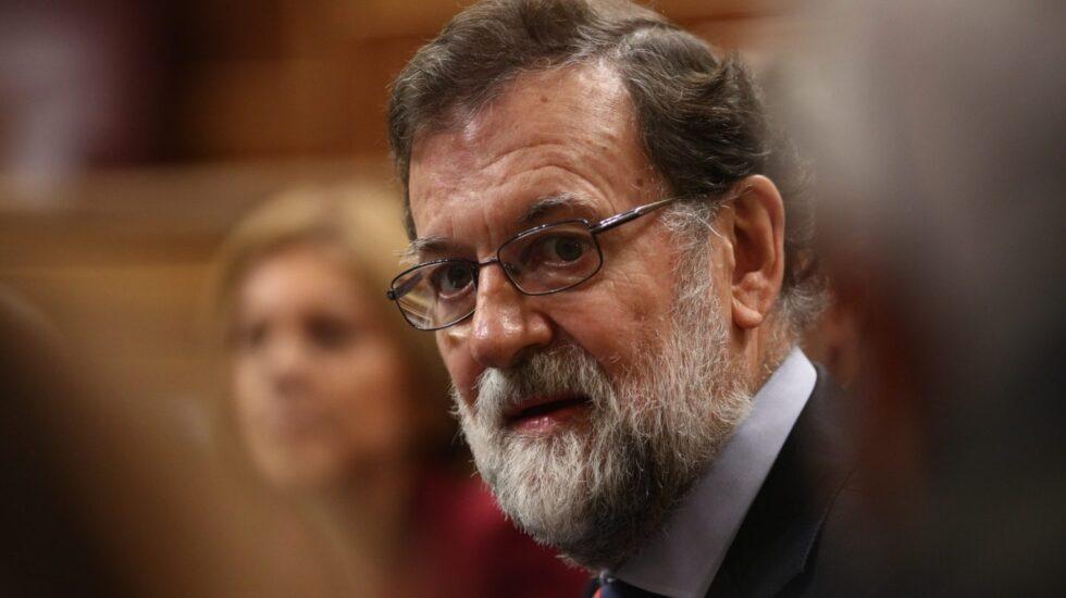 Mariano Rajoy, en una sesión de control al Gobierno en el Congreso.