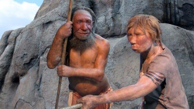 Recreación de neandertales.