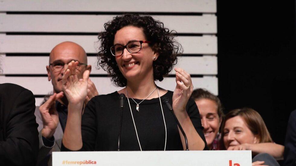 Elecciones 21-D: Marta Rovira, en la noche electoral de ERC.