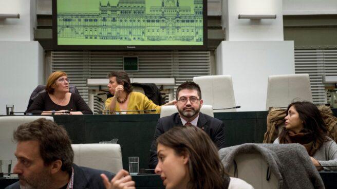 Sánchez Mato, en el Pleno del Ayuntamiento de Madrid.