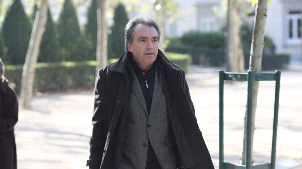 Santiago Espot, antes de declarar en la Audiencia Nacional por la pitada al himno de España en la final de Copa del Rey de 2015.