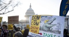 EEUU: Protestas en el Senado contra la reforma fiscal de Trump.