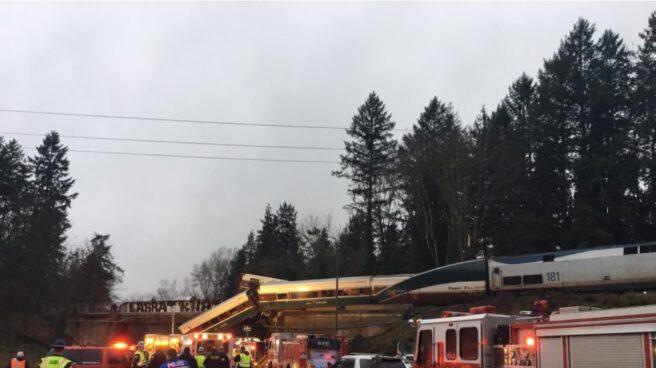 Varios muertos en un accidente de tren en Estados Unidos.
