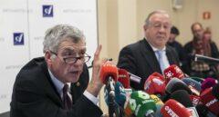Ángel María Villar, durante la conferencia de prensa ofrecida la pasada semana en un hotel de Madrid.