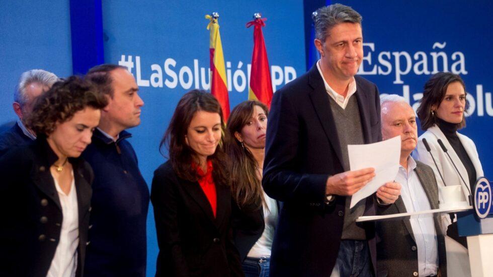 Xavier García Albiol, durante su comparecencia.
