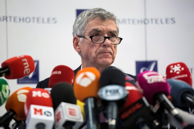 El ex presidente de la Federación Española de Fútbol Ángel María Villar, en una reciente rueda de prensa.
