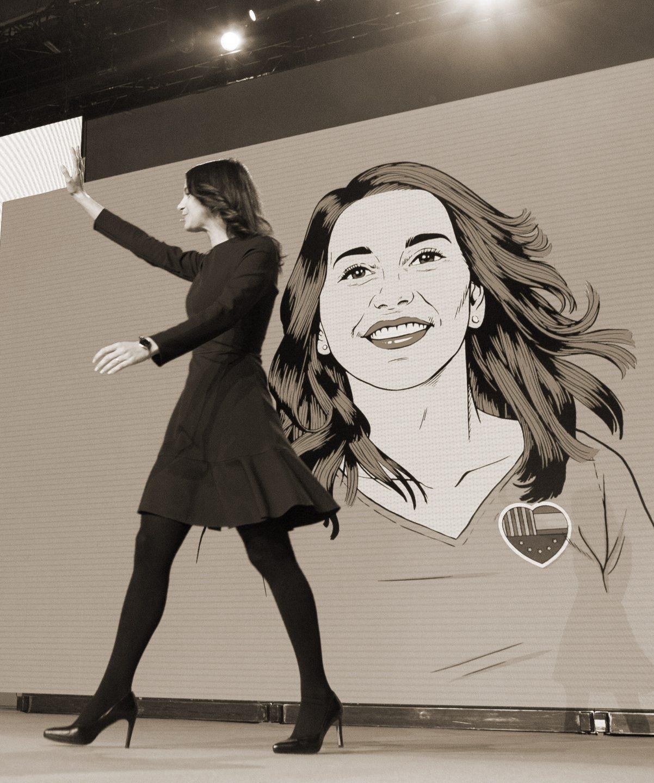 La candidata a la presidencia de la Generalitat por Ciudadanos, Inés Arrimadas.