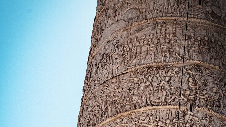 La columna trajana en Roma