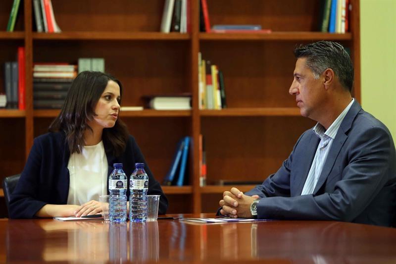 Arrimadas y Albiol en una reunión que mantuvieron en septiembre