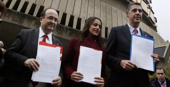 Iceta, Arrimadas y Albiol ante el Tribunal Constitucional
