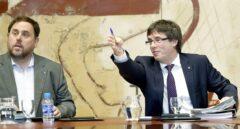 Junqueras y Puigdemont en una reunión del ex Govern
