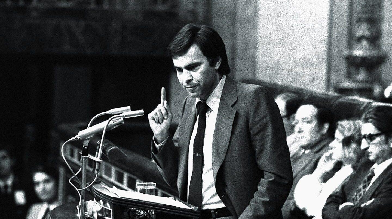 Felipe González, en el Congreso en 1982.