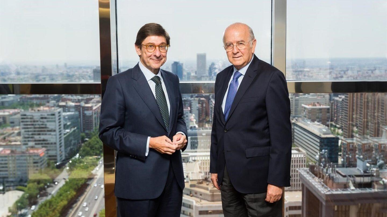 José Ignacio Goirigolzarri, presidente de Bankia, y Carlos Egea, presidente de BMN.