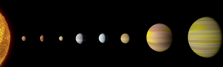 Sistema planetario en Kepler 90