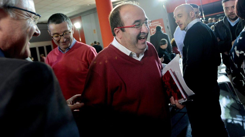 Miquel Iceta, en el Consell del PSC.
