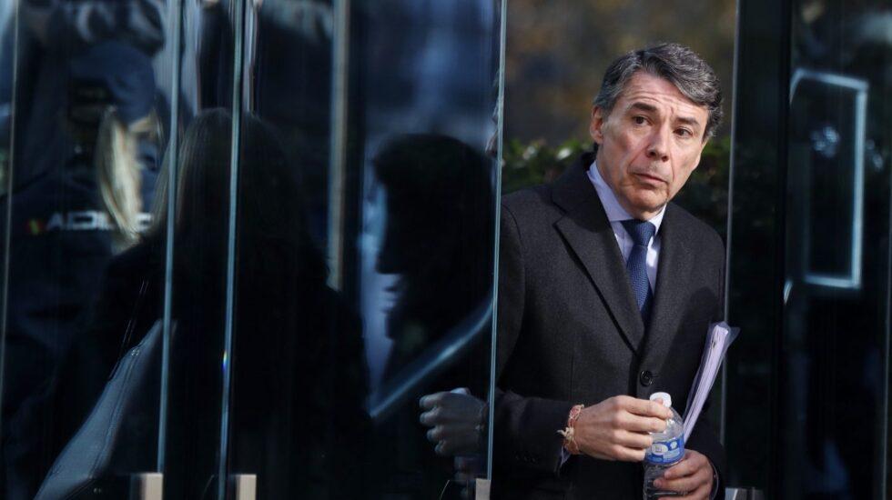 El ex presidente de la Comunidad de Madrid, Ignacio González, este lunes en la Audiencia Nacional.