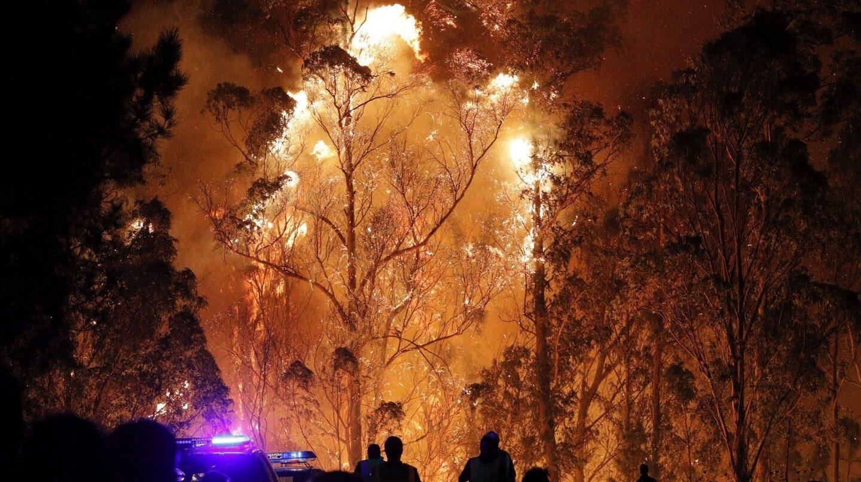 Incendio en Pontevedra en 2017.
