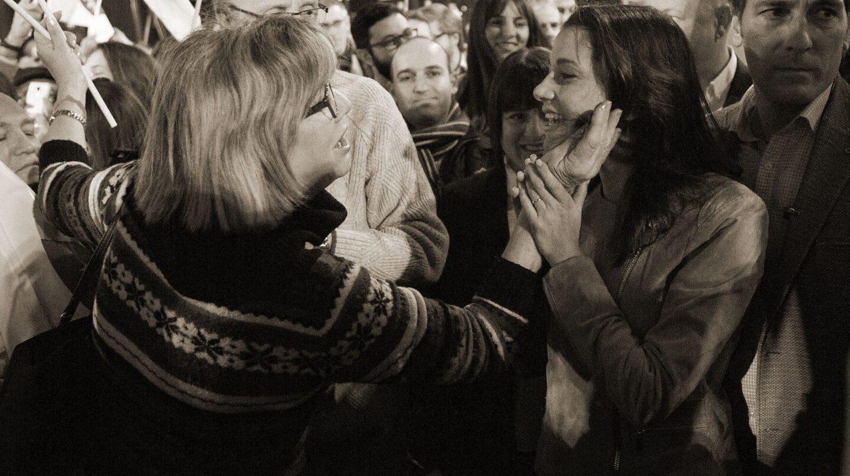 Inés Arrimadas, en un acto electoral.