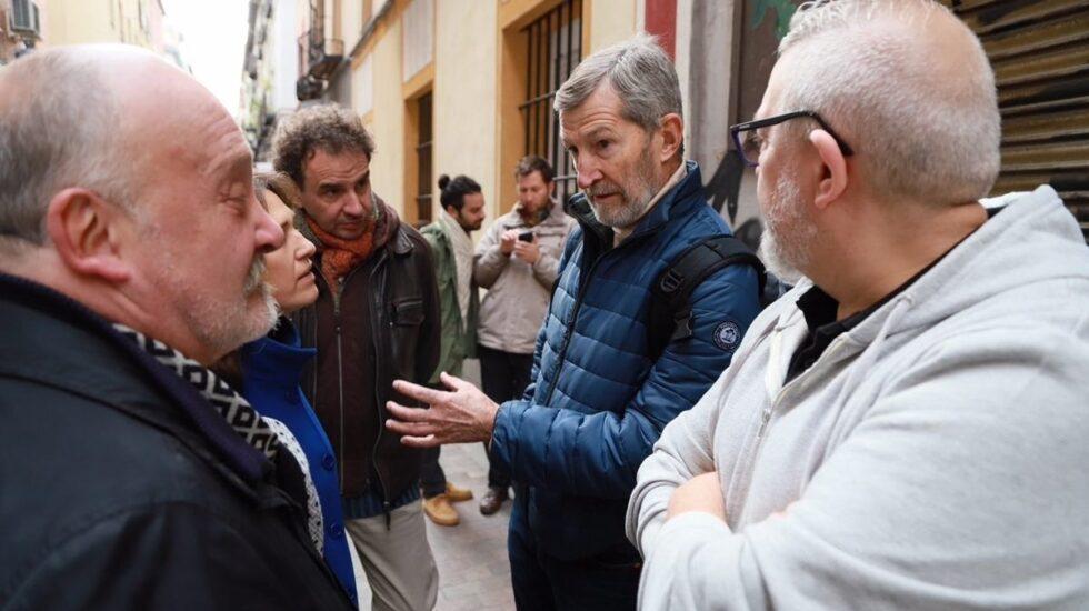 El candidato oficialista y ex Jemad Julio Rodríguez, la semana pasada en un acto de campaña a las primarias de Podemos Madrid.