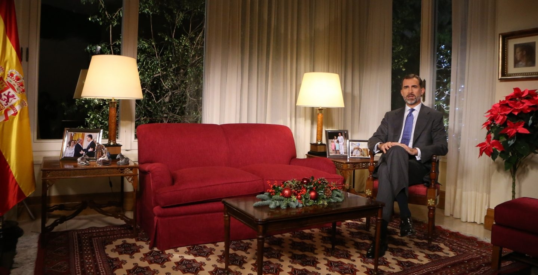 El rey Felipe VI, durante su mensaje del pasado año.