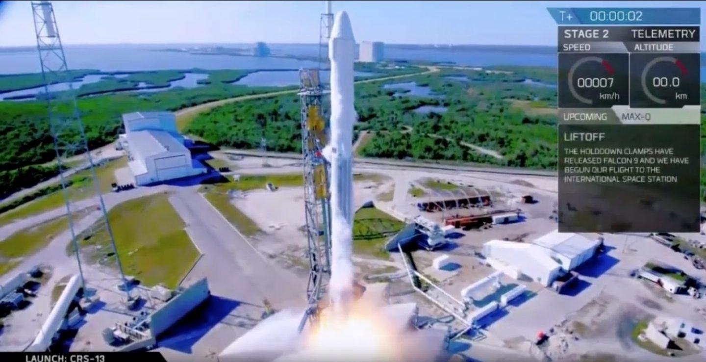Primer cohete de SpaceX reutilizable empleado por la NASA