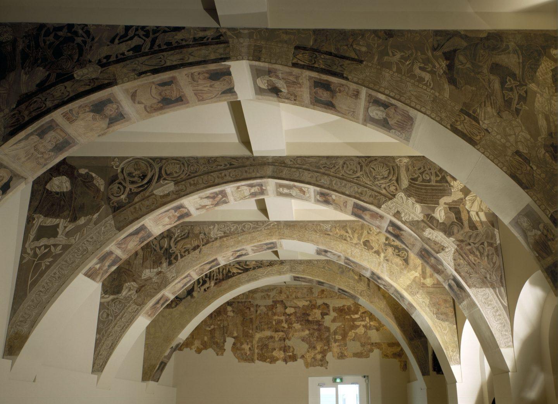 Pinturas murales de la sala capitular del monasterio en el MNAC.