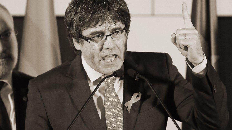 Carles Puigdemont, tras conocer los resultados electorales.