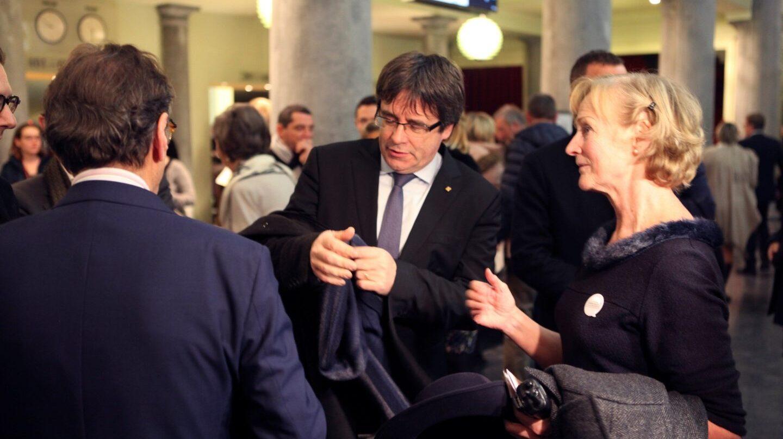 Carles Puigdemont, esta semana en la ópera de Gante.