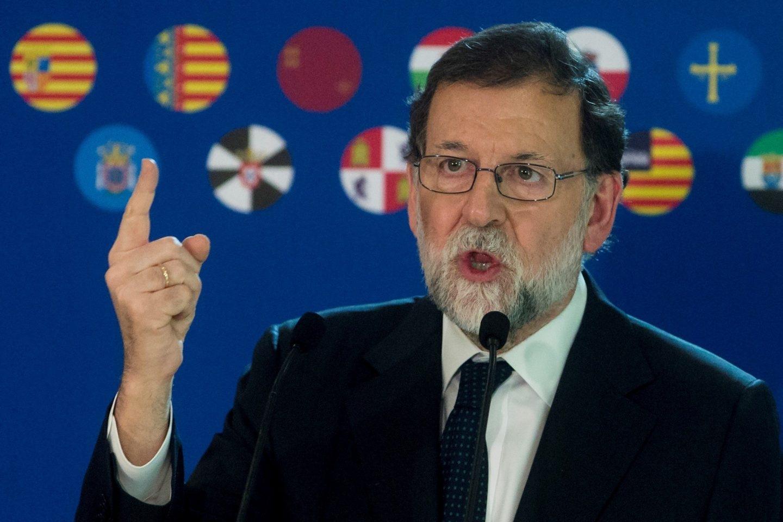 Mariano Rajoy, este lunes en Barcelona.