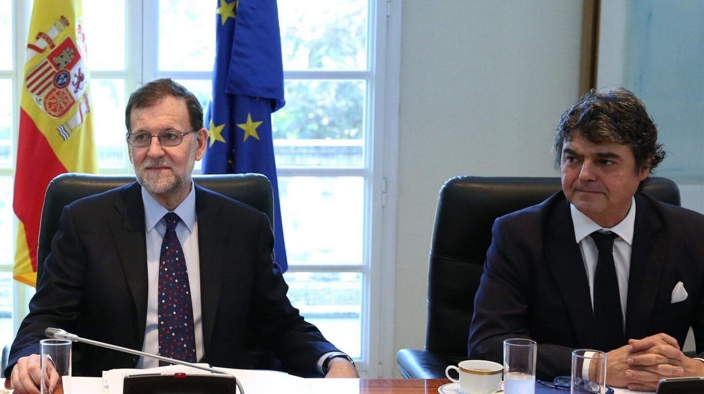 Mariano Rajoy y Jorge Moragas.