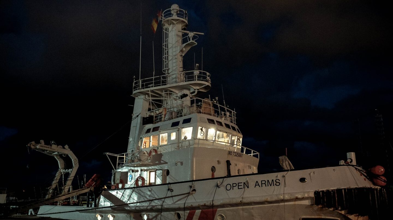 El barco Open Arms, de la ONG Proactiva Open Arms.