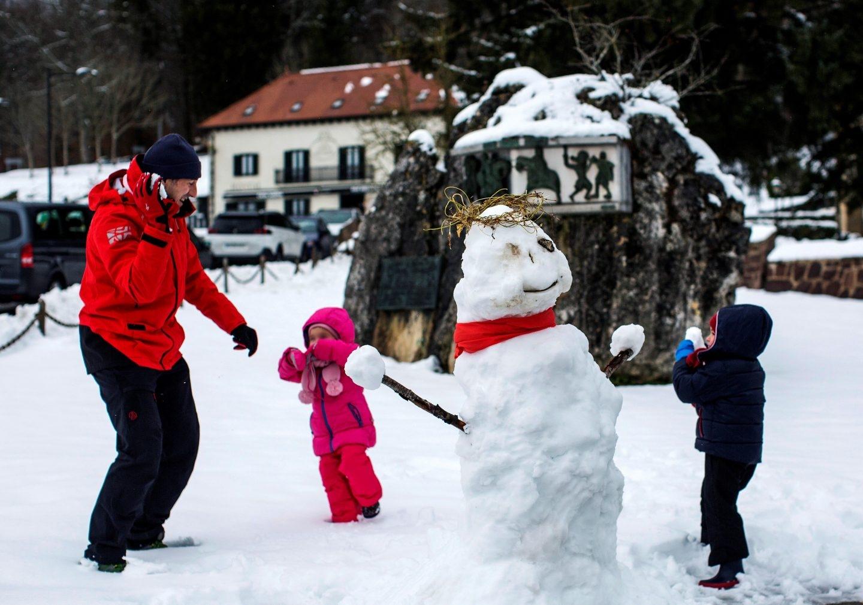 Nieve en Roncesvalles Navarra