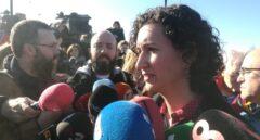 Marta Rovira acude junto a Joan Tardá y Raül Romeva a la cárcel de Estremera el último día de campaña.