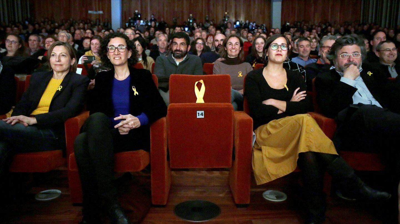 La número 2 de ERC, Marta Rovira, durante el acto de inauguración de campaña.