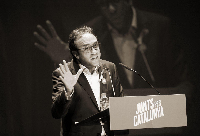 Josep Rull, en un acto de campaña.