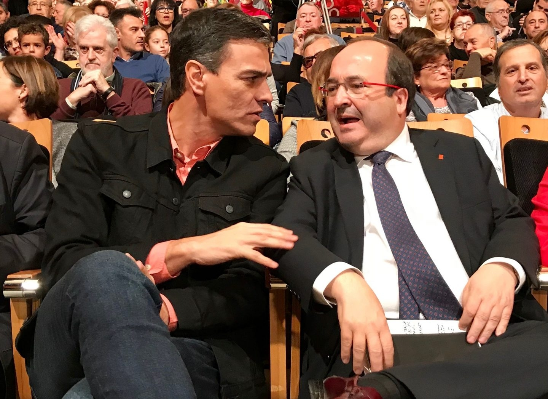 Pedro Sánchez y Miquel Iceta.
