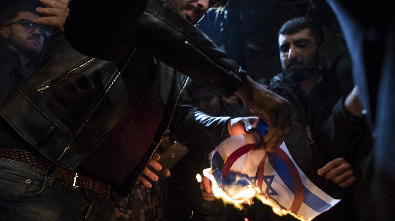 Manifestación en Turquía en contra de Donald Trump.