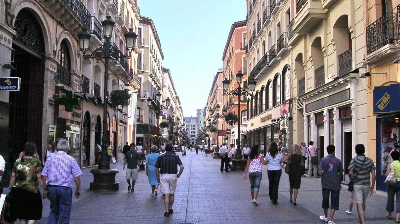 Imagen general de una de las calles de Zaragoza.