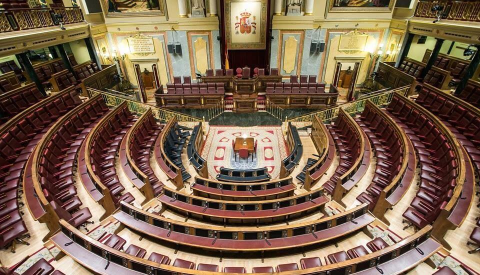 Vista del interior del Congreso de los Diputados.
