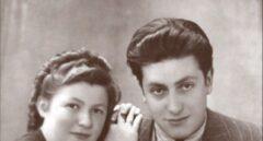 Paula y klaus después de la liberación en Fuerth, Septiembre 1946.