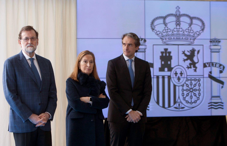 Rajoy, Pastor y De la Serna acudieron el pasado día 30 a inaugurar un tramo de la AP-9, en Galicia