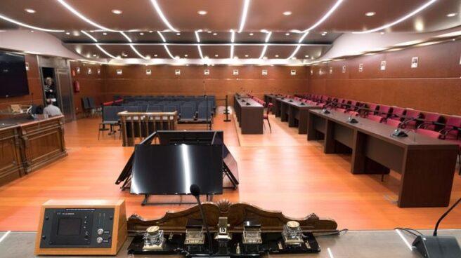 Sala de vistas de la Audiencia Provincial de Álava donde se celebrará el juicio y que ha tenido que ser reformada y ampliada.