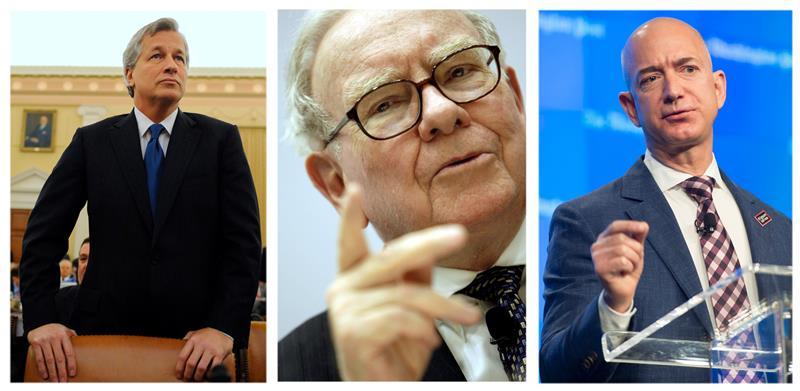 Buffett, Amazon y JPMorgan se alían para crear una empresa de servicios de salud.