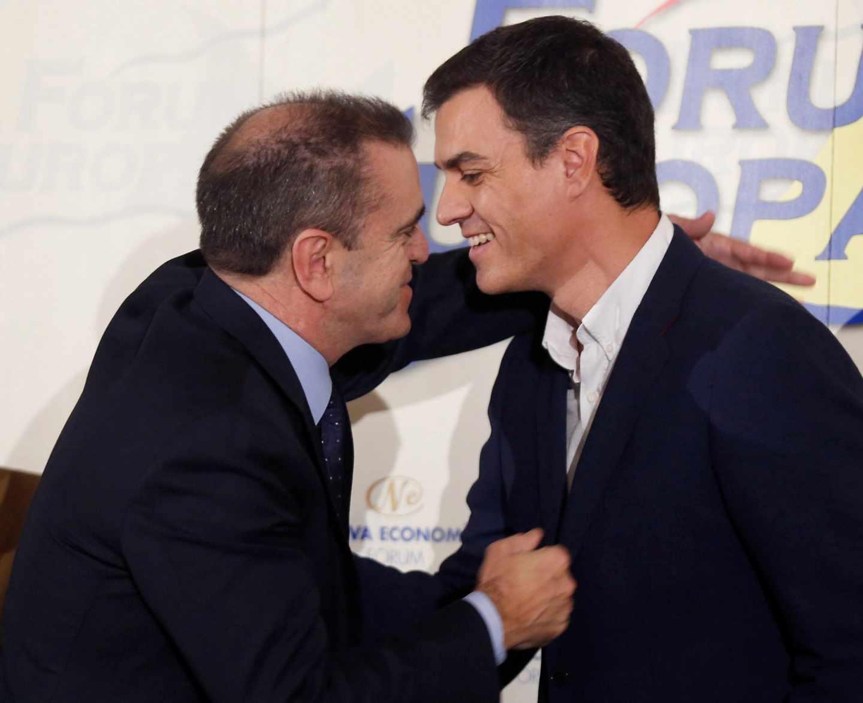 Pedro Sánchez y José Manuel Franco, en una imagen de archivo en 2018.