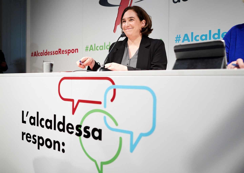 Ada Colau hace balance de su gestión en el Ayuntamiento de Barcelona.