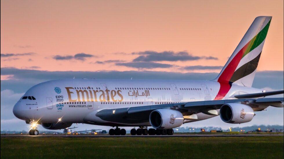 Airbus A380 de la compañía Emirates.