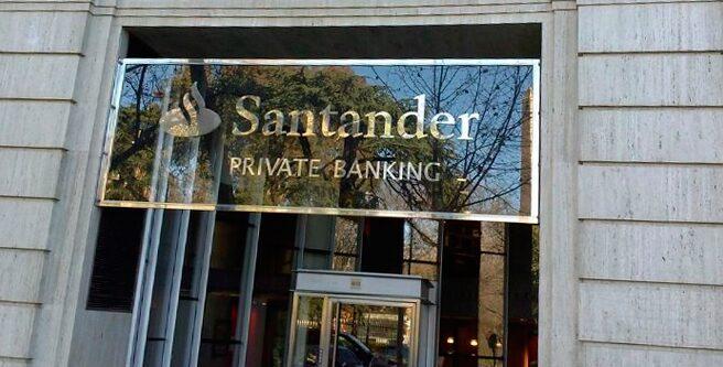 Oficina de la división de banca privada del Santander.